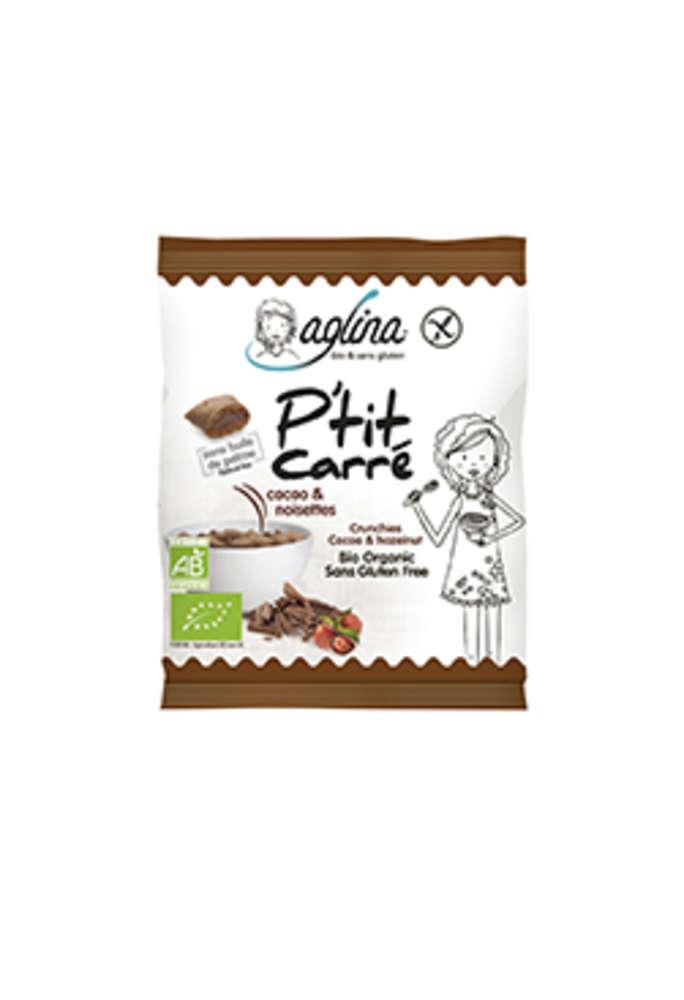 En présentoir de 14 sachets : snacking P'tits carrés à  emporter partout